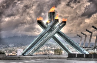 The Olympic Cauldron in Vancouver