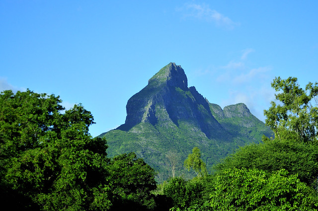 Kingkong mountain in Mauritius island