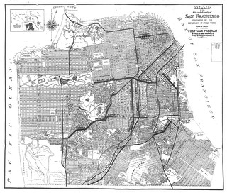 San Francisco Department of Public Works Post War Program Streets and Highways Preferred Projects (1945)