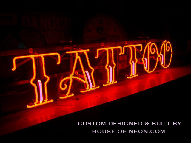 Custom tattoo neon sign flickr photo sharing for Neon tattoo signs