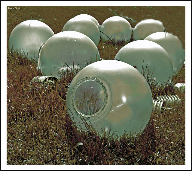 Visitors from outer space leave their trash on a field in Norway