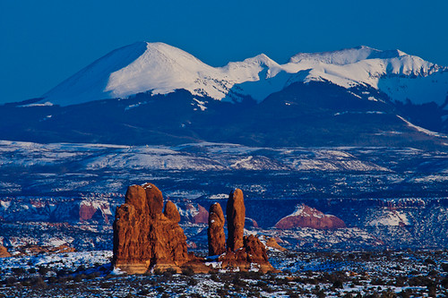 Pillars of the Earth, Arches National Park, Utah, United States