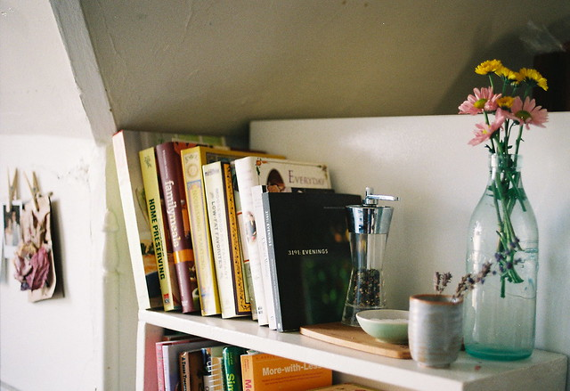 books in the kitchen