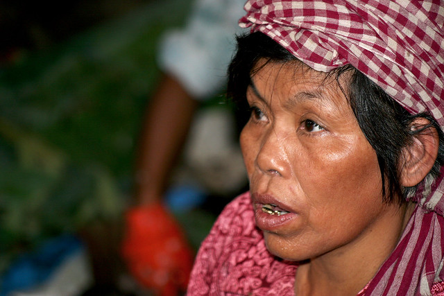 Market woman in Phnom Penh.