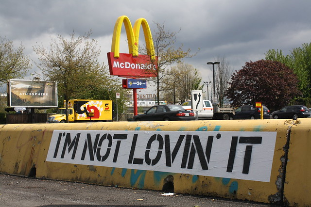 I'M NOT LOVIN' IT supersized