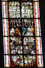 Détail du vitrail du Jugement dernier - Cathédrale de Coutances - Manche - Basse Normandie