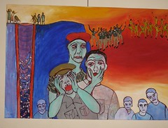 Image from the Radio Dialogue art exhibition titled 'The truth will set you free'
