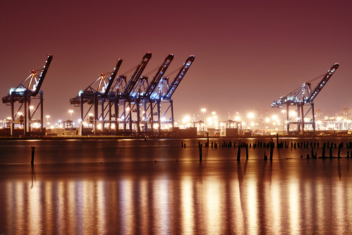 longexposure mist reflection fog night port geotagged newjersey haze elizabeth crane nj container newark shipping hdr bayonne mudpig stevekelley