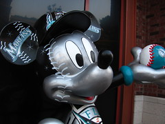 Mickey Mouse Florida Marlins Statue in front of the ESPN Zone