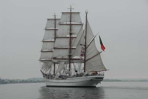 Sagres Tall Ship Visits San Diego Bay