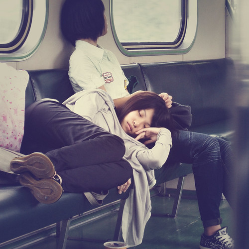 Sleeping Beauty on The Train