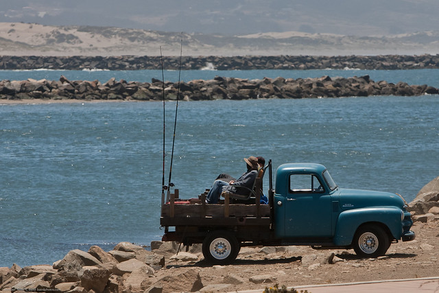 Fishing from the back of an old pickup morro bay scenes for Morro bay fishing