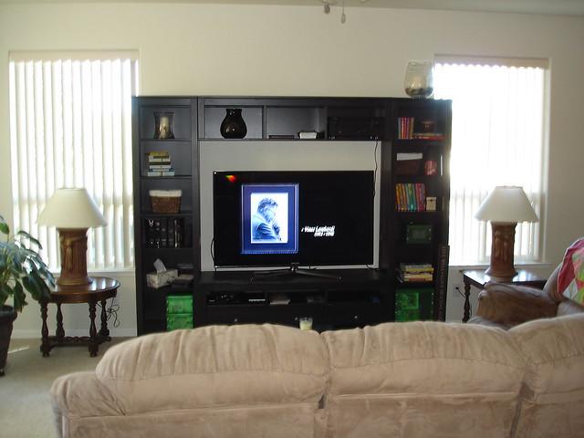 New Tv Ikea Wall Unit Flickr Photo Sharing