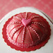 Miniature Hot Pink Love Cake