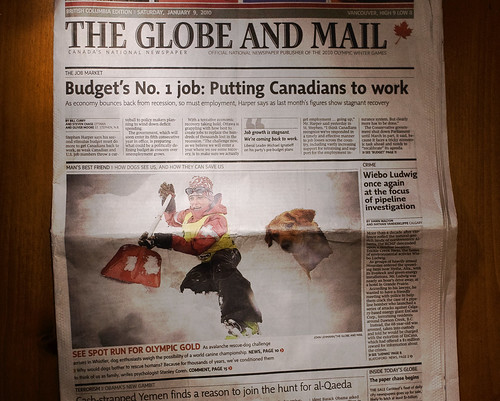 Jan 9th front page of the globe... the avitech shovel!