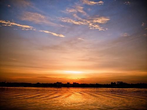 cameraphone sunset sky lake colors clouds photoshop evening hyderabad lightroom imobile902 saroornagarlake