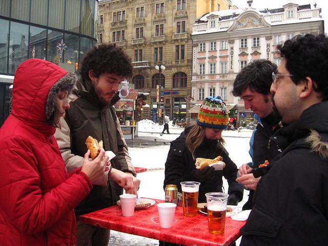 Comida de rua e lanches na Europa