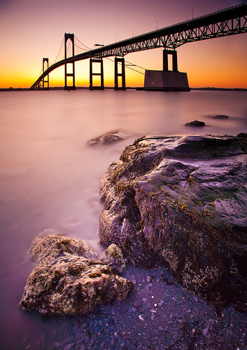 longexposure sunrise rhodeisland newport 5d jamestown newportbridge narragansettbay canonef1740mmf4l claibornepellnewportbridge bw30nd