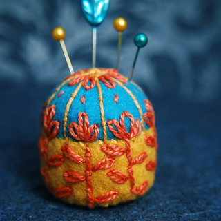 Scandinavian Flowers Bottlecap Pincushion
