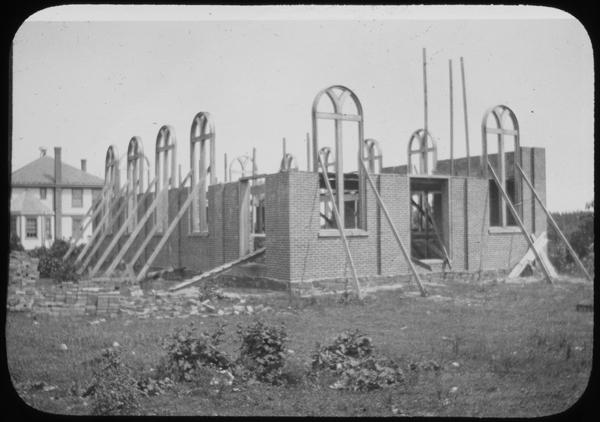 Synagogue construction, Baron De Hirsch Trade School, South Jersey Colonies, Carmel, NJ