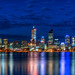 Perth city view at blue hour