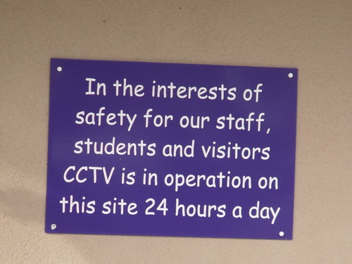 Fox Hollies Children's Centre and Hall Green Children's Centre - sign - CCTV