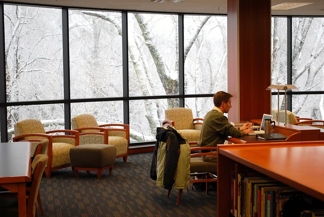 Law Library Reading Room (Snow!)