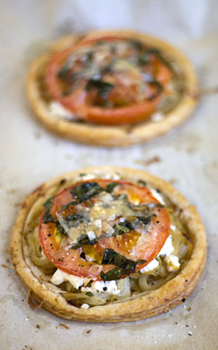 Tomato and goat cheese tart recipe dishmaps Ina garten goat cheese tart