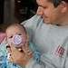Daddy feeding Chandler by hubertk