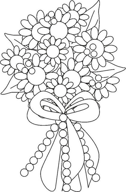 Coloring Pages Flowers Bouquet : Flower Bouquet Coloring Page Flickr Photo Sharing!