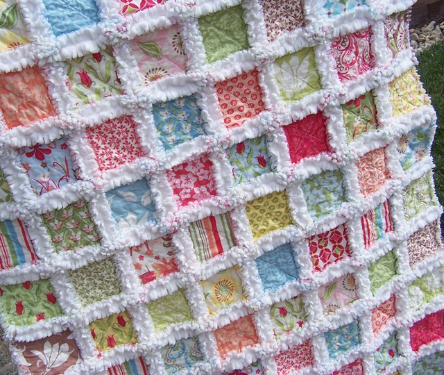 The Beach Resort Baby Rag Quilt Ladolceboutique Flickr