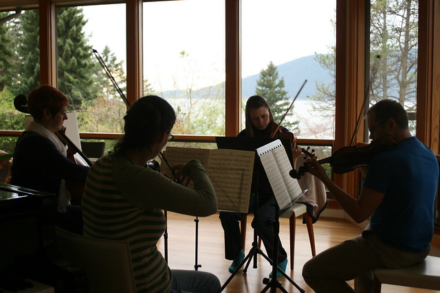 quartet rehearsing dvorak (view of bowen)