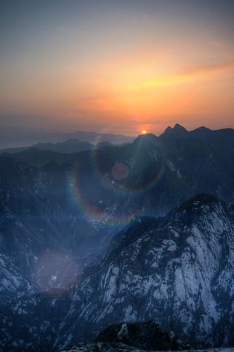 china winter panorama mountain snow ice climb photo climbing stitching shan hua shaanxi huashanmountain 华山 weinan
