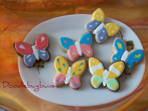 iced butterfly cookies