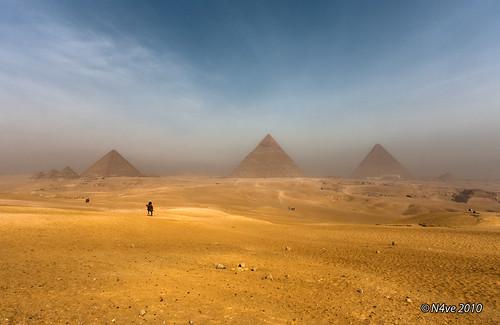 pyramid line - giza