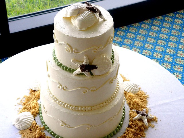 Beach Wedding Cakes Carolina Cakes Confections Wilmington NC