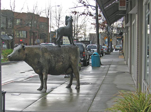 Kirkland side walk art sculpture in sidewalk 39 s furniture for Furniture zone sidewalk