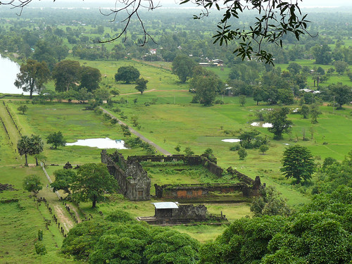 Bird's-eye view of Vat Phou south palace