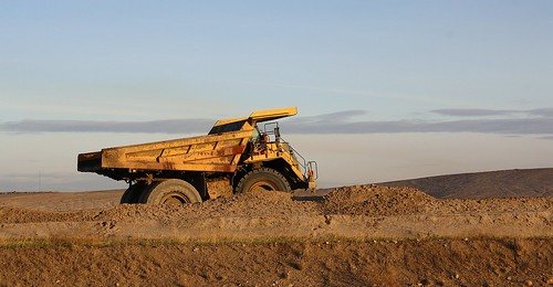 Giant Dump Truck at the Syncrude Oil Sands Mine, North of Ft. McMurray, Alberta by Laurence's Pictures