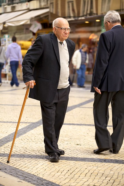 Old Man Walking with Cane | Flickr - Photo Sharing!