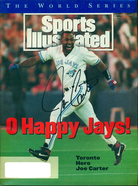 November 1, 1993, Autographed Sports Illustrated by Joe Carter