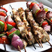 Garlic Lemon Chicken Kabobs w/ Grilled Vegetables