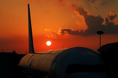 Sunset @ Cancun International Airport