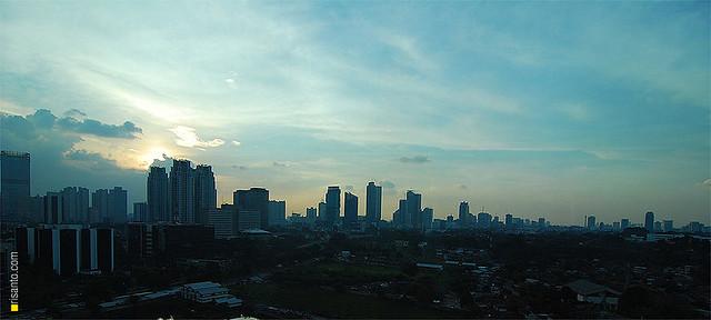 Embracing evening at Kuningan, Jakarta
