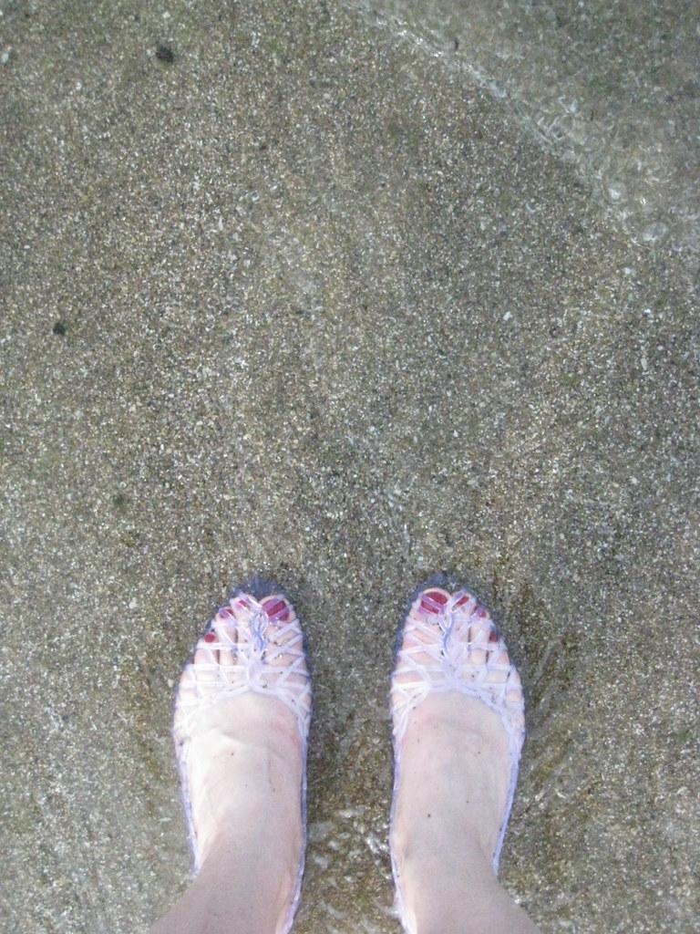 feet, lake
