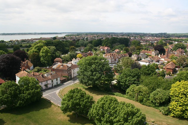 Portchester from the castle keep