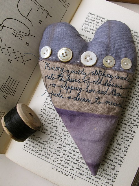 memory quietly stitching words