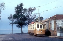 Oporto City Tram 271 in the Rua De Sobreiras, Foz, Oporto, Portugal.