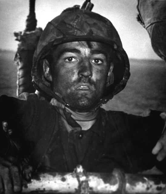 The thousand-yard stare, Marshall Islands 1944