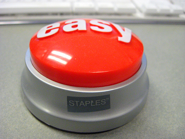 Easy button staples